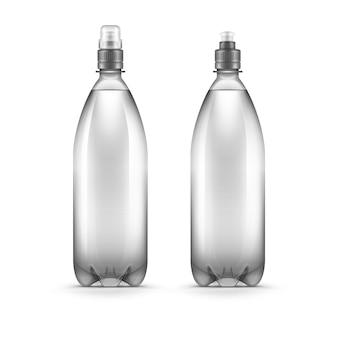 Vektor-leere plastikwasserflasche isoliert