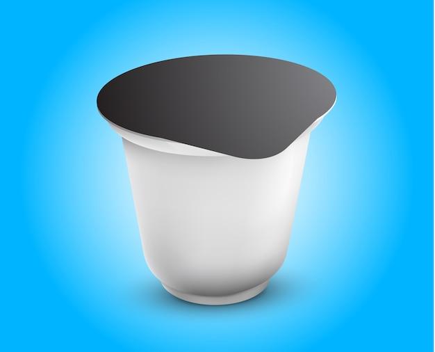 Vektor-leere weiße folien-lebensmittelverpackungs-illustration lokalisiertes schablonen-paket bereit
