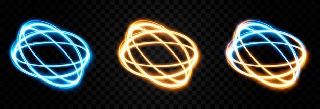 Vektor leuchtende portallichtlinien neonlicht elektrisches licht portallichteffekt png