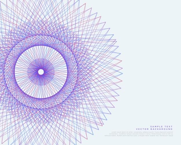Vektor linien spirograph vektor hintergrund