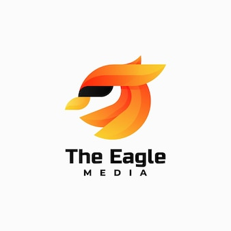 Vektor logo illustration adler farbverlauf bunte stil