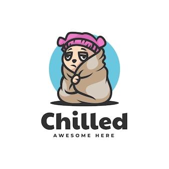 Vektor logo illustration fieber hund maskottchen cartoon stil