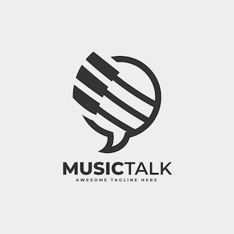 Vektor logo illustration musik sprechen fliegen silhouette stil