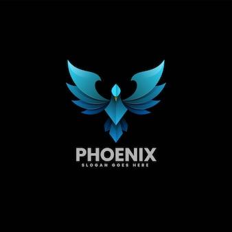 Vektor logo illustration phoenix farbverlauf bunte stil