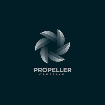 Vektor-logo-illustration propeller farbverlauf bunter stil
