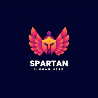 Vektor logo illustration spartan farbverlauf bunte stil