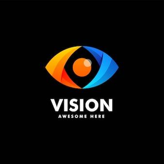 Vektor logo illustration vision farbverlauf bunten stil