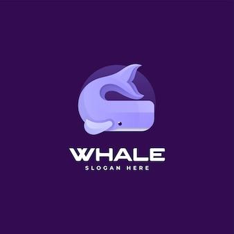 Vektor logo illustration wal farbverlauf bunte stil