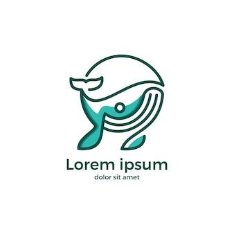 Vektor logo whale ursprüngliches konzept