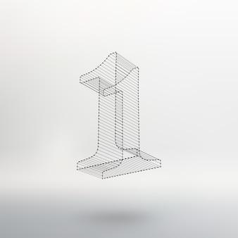 Vektor-low-poly-zahlen-schriftart. polygon-zahlenalphabet. vektor-illustration.