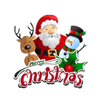 Vektor lustige weihnachtsgrußkarte