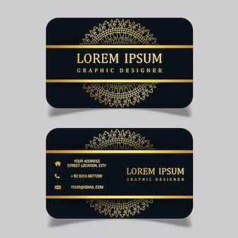 Vektor-luxuriöse königliche visitenkarte