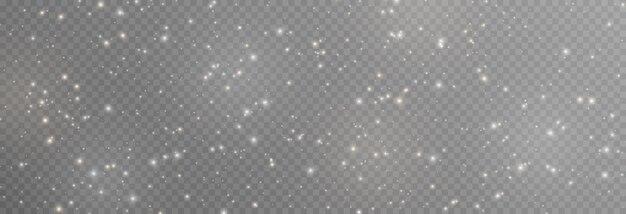Vektor magisches glühen weiße und goldene staubexplosion von png-partikeln funkelnder feenstaub