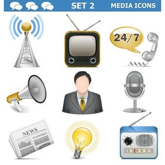 Vektor-medien-icons set 2