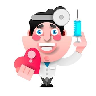 Vektor medizinische ikone doktor
