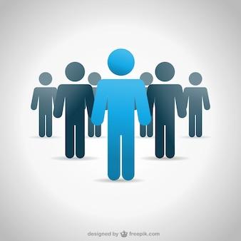 Vektor menschen business-hintergrund