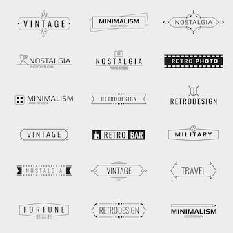 Vektor-minimal-vintage-logo-vorlagen