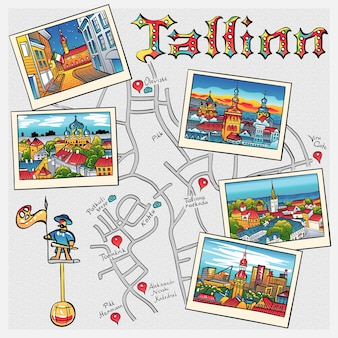 Vektor mittelalterliche altstadt, tallinn, estland?