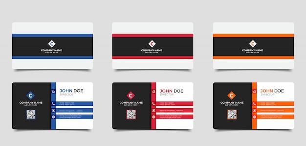 Vektor moderne kreative und saubere visitenkarte vorlage