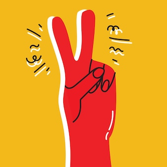 Vektor-motivationskarte mit handzeichen-sieg alles wird in ordnung sein stilvoller vintage-hintergrund in tr...