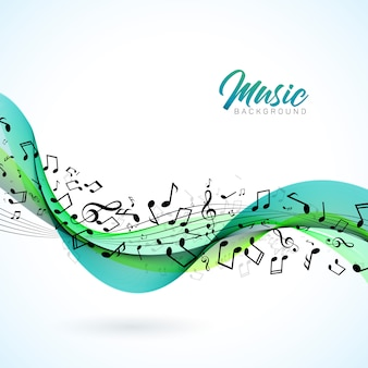 Vektor-musikillustration mit fallenden anmerkungen