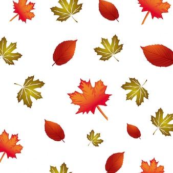 Vektor-muster mit herbst leafes, floral background, herbst herbst.