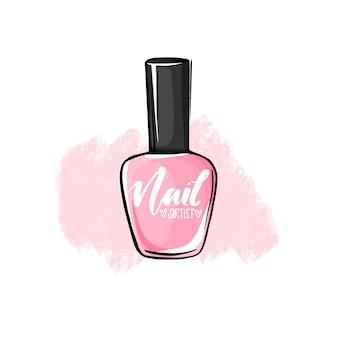 Vektor nagellack flasche