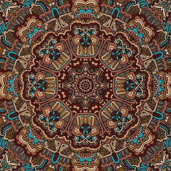 Vektor nahtlose afrikanische kunst batik ikat ethnische böhmische print vintage-design