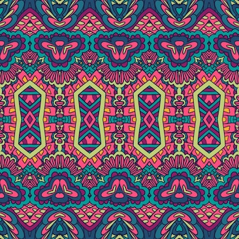 Vektor nahtlose muster abstrakte geometrie bunter ethnischer geometrischer psychedelischer druck