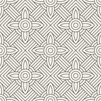 Vektor nahtlose muster. abstraktes geometrisches muster mit linien. wiederholte geometrische kacheln.