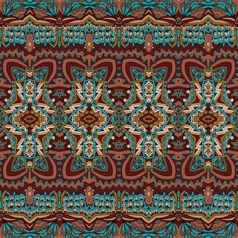 Vektor nahtlose muster afrikanische kunst batik ikat. ethnisches pint-vintage-design.