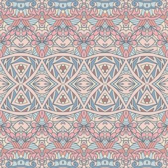 Vektor nahtlose muster im böhmischen stil textildruck dekorativ
