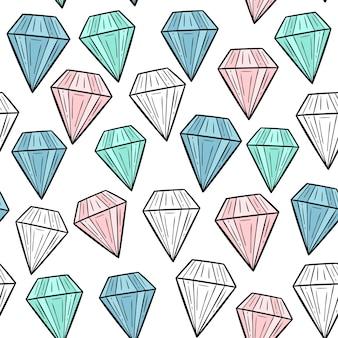 Vektor nahtlose muster mit diamanten. skandinavische motive. babydruck.