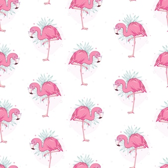 Vektor nahtlose muster mit flamingos