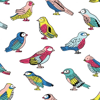 Vektor nahtlose muster mit vögeln