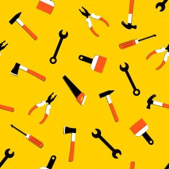 Vektor nahtlose muster mit werkzeugen