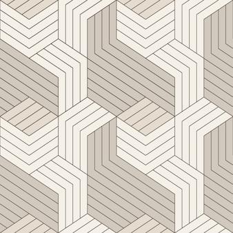 Vektor nahtlose muster. nahtloses muster mit symmetrischen geometrischen linien. wiederholte geometrische kacheln.