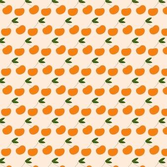 Vektor nahtlose musterdesign mit pfirsichen modernes abstraktes design
