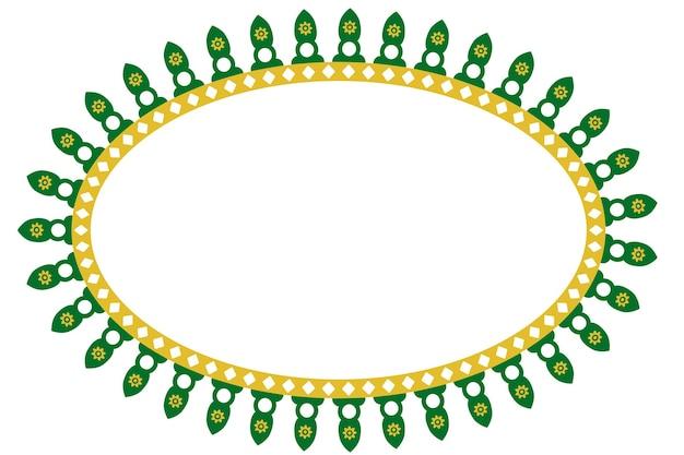 Vektor nahtlose ovale dekoration traditionelles haus von old jakarta, indonesien?