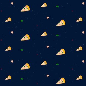 Vektor nahtlose pizza-muster-hintergrund
