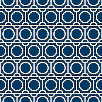 Vektor nahtloses muster mit sich wiederholenden objekten. monochromes minimalistisches grafikdesign.