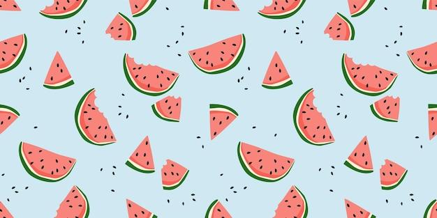 Vektor nahtloses muster mit wassermelonen
