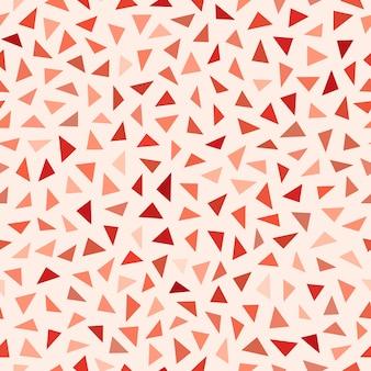 Vektor-nahtloses rotes schatten-durcheinander-dreieck-muster