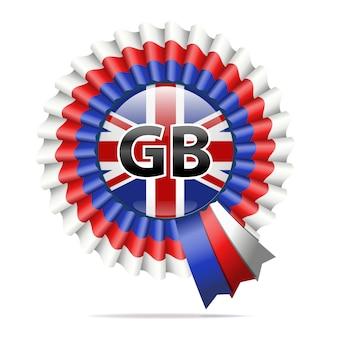 Vektor nationalflagge abzeichen