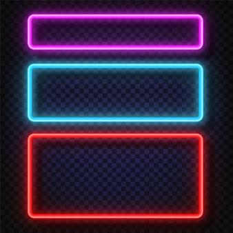 Vektor neonlicht-feldzeichen.