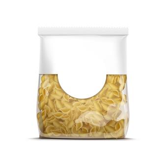 Vektor-nudelschalen-verpackungsschablone isoliert