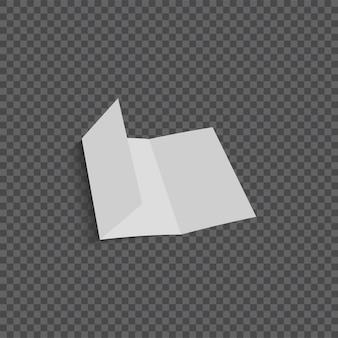 Vektor öffnen unbelegte faltende papierbroschüre