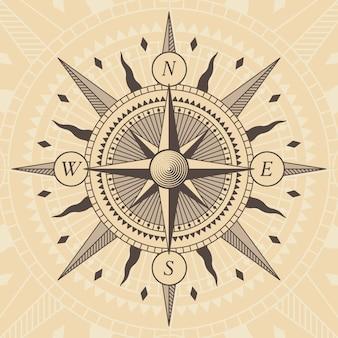 Vektor oldstyle windrose kompass