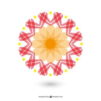 Vektor ornament template-design