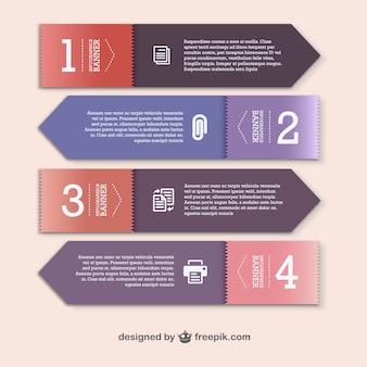 Vektor-papier-etiketten set-design